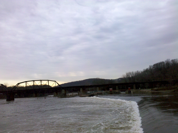 Forks of the Delaware and Lehigh Rivers before the storm