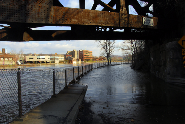 Flooding of the Lehigh River at 611 South in Easton PA | Lehigh Valley | March 12, 2011