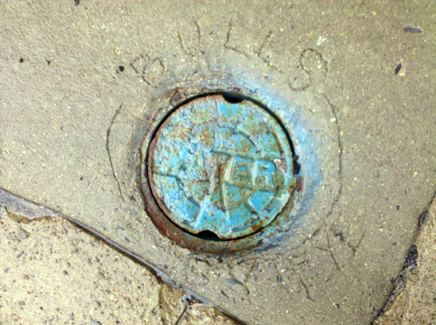 Bulls Eye Sewer Cover on Sitgreaves St. in Downtown Easton | Lehigh Valley PA