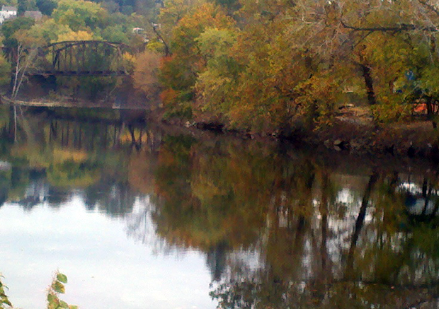 Autumn on the Lehigh River, Easton PA, Lehigh Valley PA