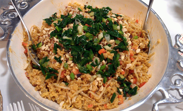 Scallions & Quinoa, Simple and Healthful meal by Quinn Asteak and Robyn Youkilis