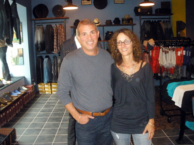 Owners Rich Lepowdsky, Sandy Dimperio pose proudly in their store.