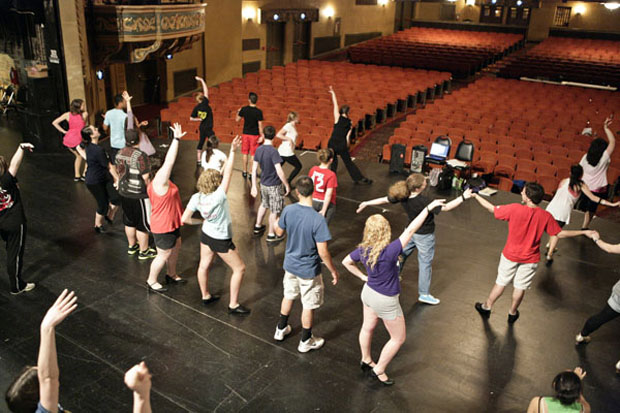 Students rehearse for the 10th Annual Freddy Awards at the State Theatre in Easton, PA.